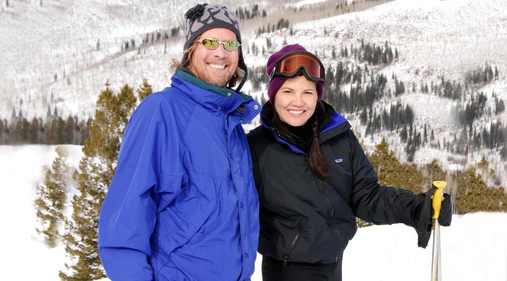 Brenda and Brian Skiing